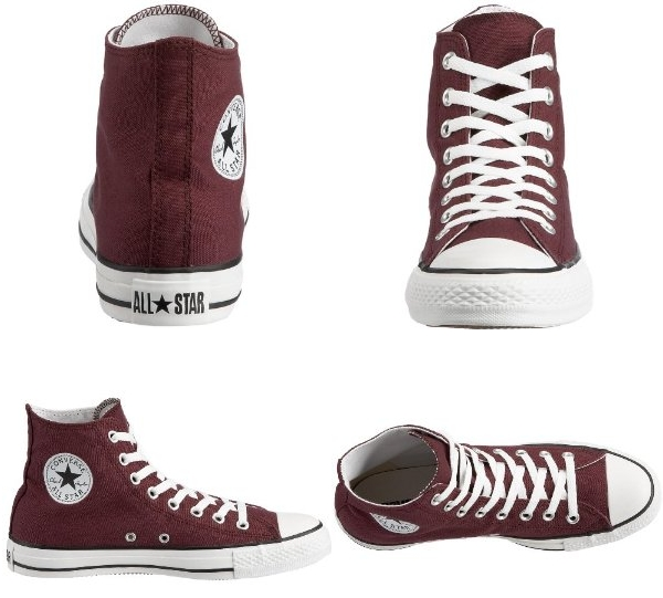 converse chucks damen schuhe dunkelrot maroon 40 uk 7 ebay. Black Bedroom Furniture Sets. Home Design Ideas