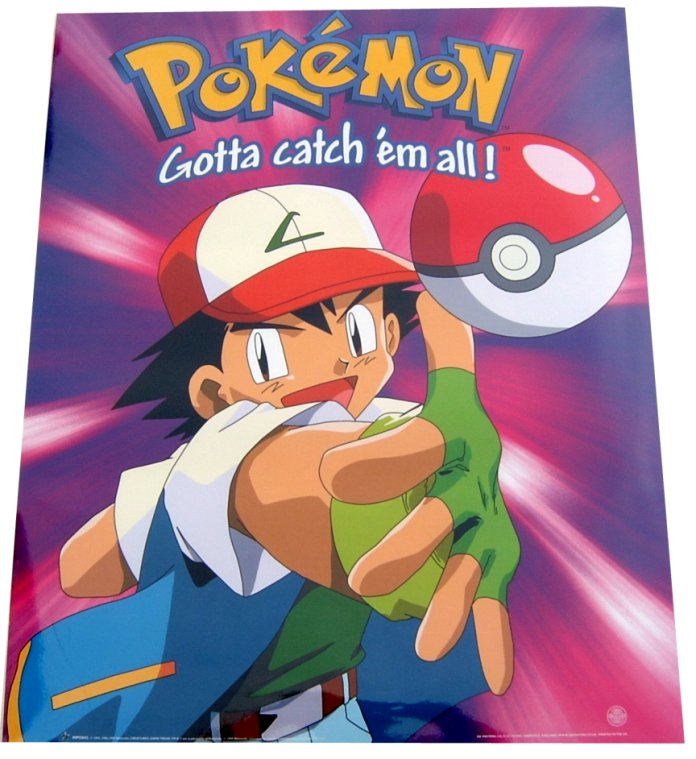 Pokemon Gotta Catch Em All Ash Ball 40 X 50 Poster Neu